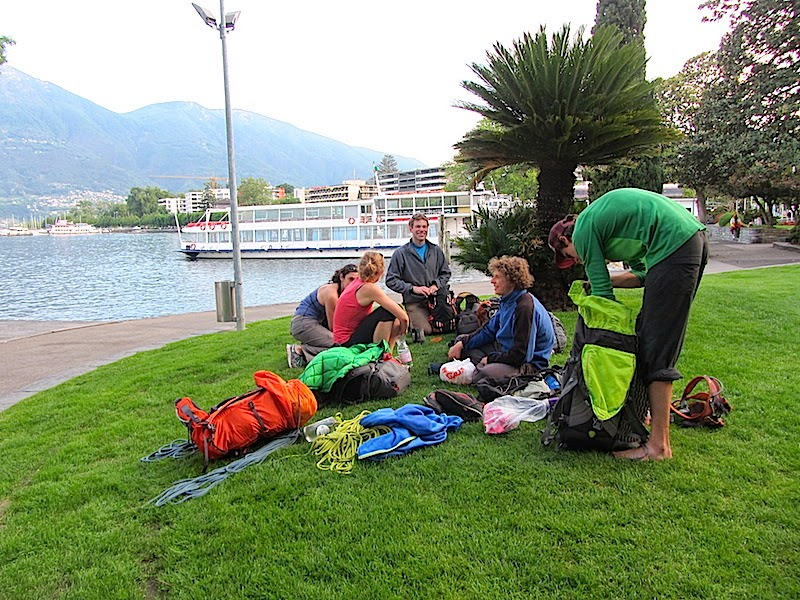 Chilling out near Locarno lake