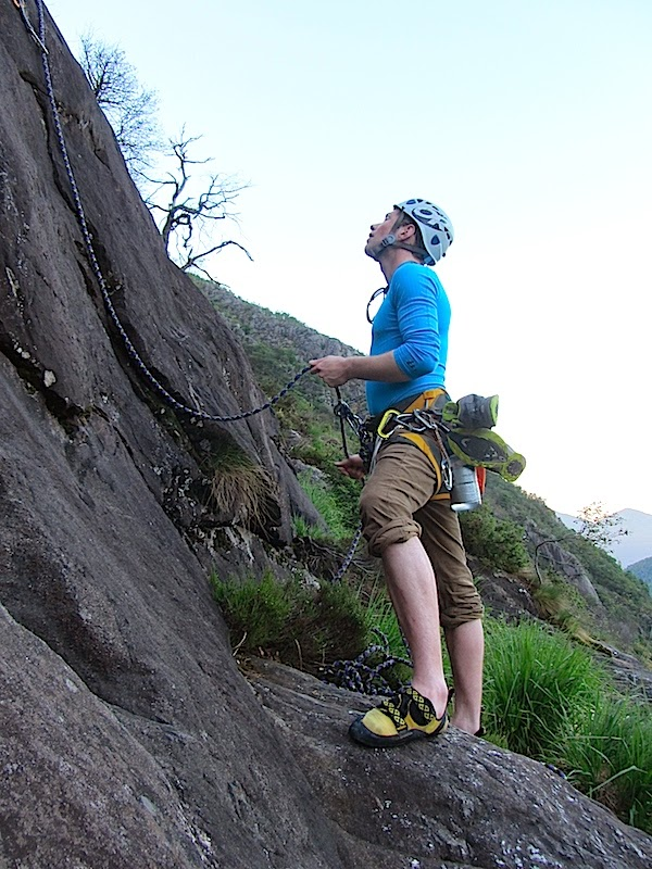 Fridolin belaying Gedas
