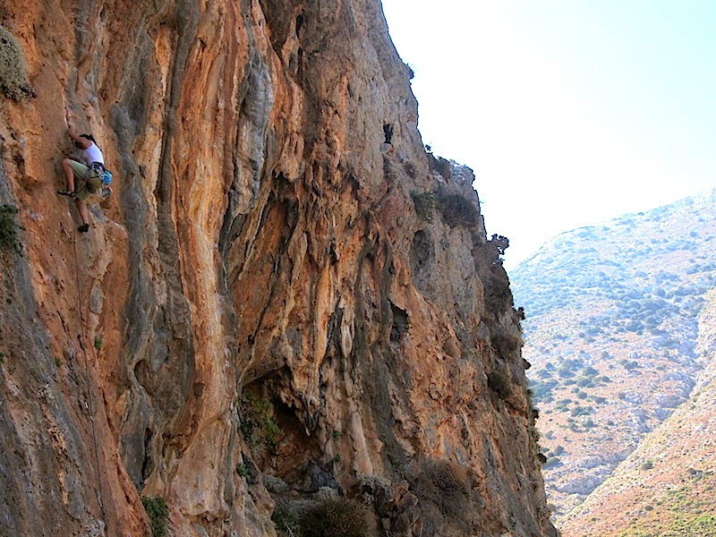 Laura on some route at Arginonta