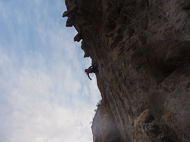 Laura on Müren 7a+ or b