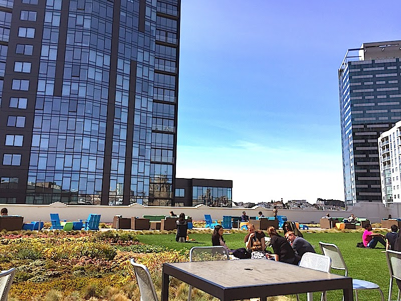Lunch on the roof at Twitter HQ