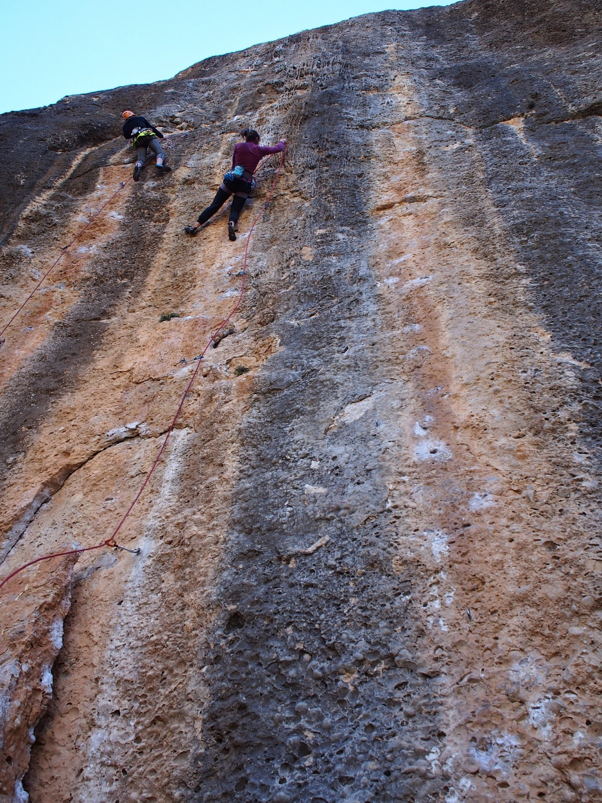 A very nice 7b+ in Margalef