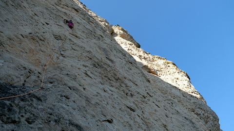 Laura on some 6c+