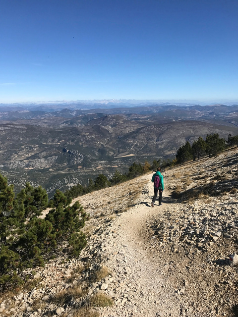 On the way down from Mont Ventoux