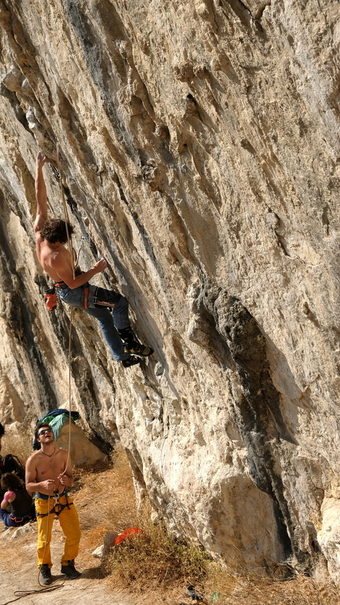 "Gedas back on ""Lourdes"", 8a, Makinodromo. This time in style!"