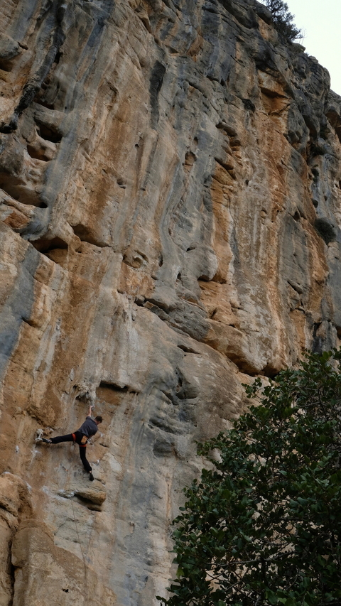 "Gedas B. on ""Life is sweet"", 6c, Makinodromo"