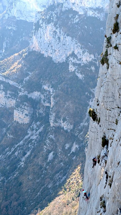 Some climbers on Escales
