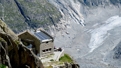 Envers hut from above