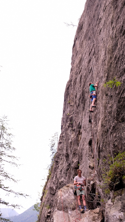 Cragging with Philipp